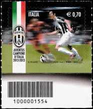Italia 2013 - Juventus campione d'Italia 2012-2013 - codice a barre n° 1554