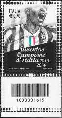 2014 - Juventus campione d'Italia 2013-2014 - codice a barre n° 1615