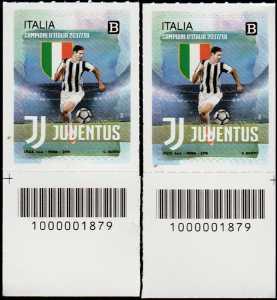 Juventus Campione d'Italia 2017-2018 - coppia con codice a barre n° 1879 in Basso Destra-Sinistra