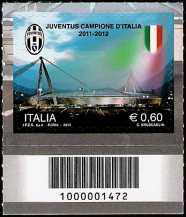 Italia 2012 - Juventus campione d'Italia 2011-2012 - codice a barre n° 1472