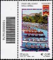 Le ricorrenze -  Il Palio del Golfo - La Spezia - francobollo con codice a barre n° 1676