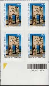 Il senso civico - Lampedusa, porta d'Europa - quartina con codice a barre n° 1909