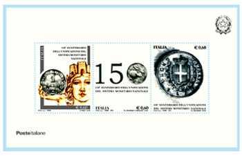 Lira Italiana - 150° anniversario dell'unificazione del sistema monetario nazionale