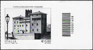2015 -  Castello Malatestiano di Longiano - francobollo con codice a barre n° 1658