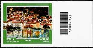 2014 - Turistica - 41ª serie - Lovere ( BG ) - codice a barre n° 1593
