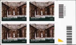 Biblioteca Lucchesiana di Agrigento - quartina con codice a barre n° 1664