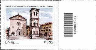 Santuario Santa Maria della Quercia - Viterbo - francobollo con codice a barre n° 1785