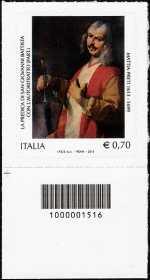 Italia 2013 - Mattia Preti  - codice a barre n° 1516
