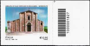 Abbazia di San Gervasio di Bulgaria - Mondolfo - francobollo con codice a barre n° 1827