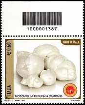 Italia 2011 -  «Made in Italy» - Mozzarella - codice a barre n° 1387