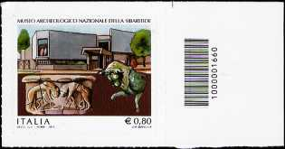 Museo Archeologico Nazionale della Sibaritide - francobollo con codice a barre n° 1660