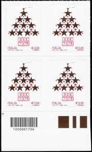 Il Natale laico - quartina con codice a barre n° 1706