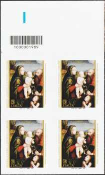 2019 - Natale religioso - quartina con codice a barre n° 1989