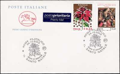 2003- Natale - busta 1° giorno FDC Poste