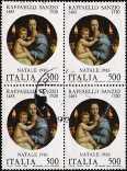 1983 - Natale - 5° Centenario della nascita di Raffaello Sanzio - «La Madonna dei candelabri»