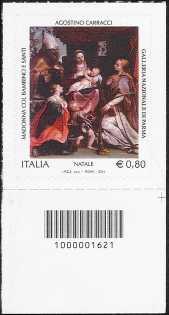 Il Santo Natale - Madonna con il Bambino e Santi - Agostino Carracci - codice a barre n° 1621