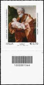 Italia 2013 - Natale  religioso  - codice a barre n° 1566