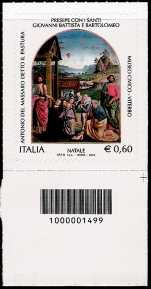 Italia 2012 - Natale religioso - codice a barre n° 1499