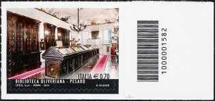2014 -  Le eccellenze del sistema sapere  :  Biblioteca Oliveriana di Pesaro - codice a barre n° 1582