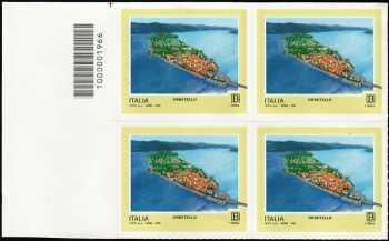 Turistica - 46ª serie  - Patrimonio naturale e paesaggistico : Orbetello ( GR ) - quartina con codice a barre n° 1966