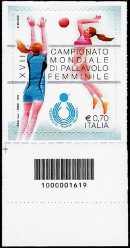 XVII° Campionato Mondiale di pallavolo femminile - codice a barre n° 1619