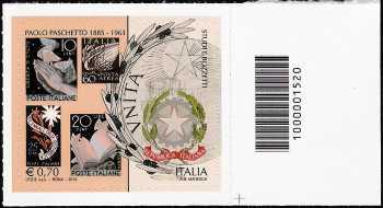 Italia 2013 - Paolo Paschetto  - codice a barre n° 1520