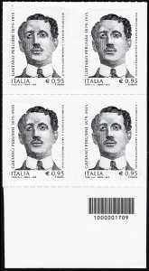 Centenario della morte di Gaetano Perusini - quartina con codice a barre n° 1709