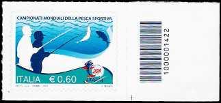 Italia 2011 - Campionati mondiali della pesca sportiva - codice a barre n° 1422