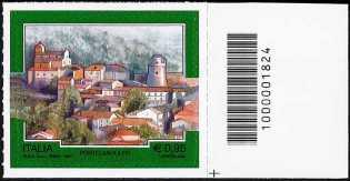 Turistica  44ª serie - Pontelandolfo  (BN) - francobollo con codice a barre n° 1824