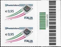 Poste Italiane - serie ordinaria - 0,95 € - codice a barre n° 1630