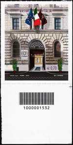 Italia 2013 - «Le Istituzioni» - Le Questure d'Italia  - codice a barre n° 1532