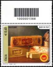 Italia 2011 -  «Made in Italy» - formaggio Ragusano - codice a barre n° 1388
