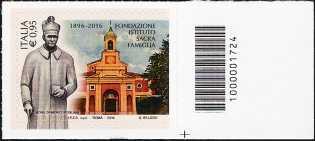 120° Anniversario della Fondazione «Istituto Sacra Famiglia» - francobollo con codice a barre n° 1724