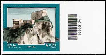 Italia 2013 - Turistica - 40ª serie - San Leo  ( RN ) - codice a barre n° 1541