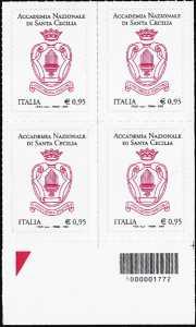 Accademia Nazionale Santa Cecilia - quartina con codice a barre n° 1772