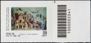 Beato  Gerardo Sasso -  9° Centenario della scomparsa - tariffa B - francobollo con codice a barre n° 2041 a DESTRA in alto
