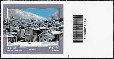 Italia 2013 - Turistica - 40ª serie - Scanno  ( AQ ) - codice a barre n° 1542