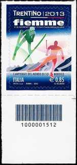 Italia 2013 - Campionati del mondo di sci nordico  - codice a barre n° 1512