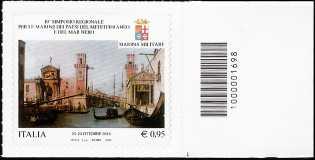 10° Simposio regionale per le Marine dei paesi del Mediterraneo e del Mar Nero - francobollo con codice a barre n° 1698
