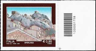 Turistica -  43ª serie emissione : - Sperlinga  ( EN ) - francobollo con codice a barre n° 1758