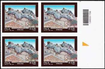 Turistica -  43ª serie emissione : - Sperlinga  ( EN ) - quartina con codice a barre n° 1758