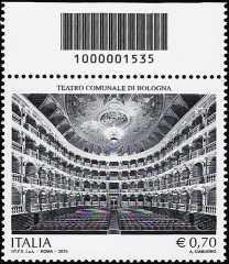 250° Anniversario dell'inaugurazione del Teatro Comunale di Bologna  - codice a barre n° 1535