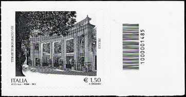 Italia 2012 - Terme di Bonifacio VIII - Fiuggi - codice a barre n° 1485