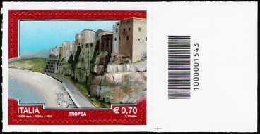 Italia 2013 - Turistica - 40ª serie - Tropea  ( V V ) - codice a barre n° 1543