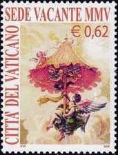 Vaticano 2005 - Sede vacante - 0,62 € - Benedetto XVI