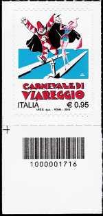 Il carnevale di Viareggio - francobollo con codice a barre n° 1716