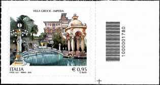 Villa Grock - Imperia - francobollo con codice a barre n° 1780