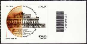 Italia 2011 - Palazzo della zecca - codice a barre n° 1434